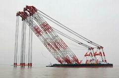 sheerleg floating crane barge for sale rent