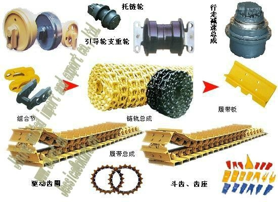 Sheepsfoot Roller Replacement Parts : Excavator undercarriage parts komatsu hitachi cat doosan