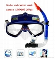 HD CMOS Sensor Waterproof Diving Mask Digital Video PC Camera with Snorkel