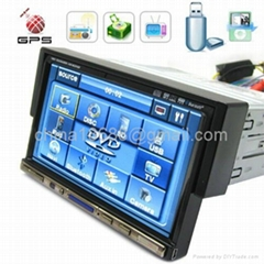 7 Inch 1 DIN Large Screen Car DVD Player with GPS System and TV Function