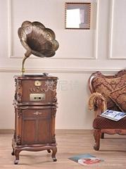 怀旧复古黑胶唱机