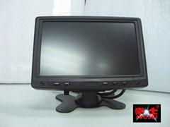 7寸车载靠枕液晶显示器(VAG/AV接口))
