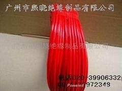 红色内纤外胶玻璃纤维套管