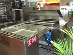 Electrical radiation type tunnel oven