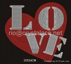 OEM factory T-shirt hot fix motif