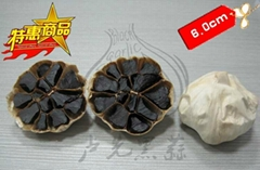 black garlic seller sell fermented black garlic -- used as condiment