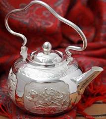Chinese vintage style si  er personalized tea pot