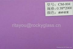 Colored EVA film for laminated glass
