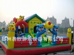 大型廣場充氣玩具淘氣堡氣墊床