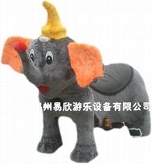廣場儿童電動毛絨玩具車