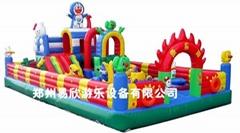 鄭州廣場大型儿童充氣遊樂城堡