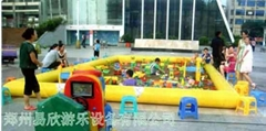 广场儿童决明子充气沙滩池乐园