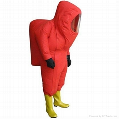 full sealed chemical protective suit for fire fighter