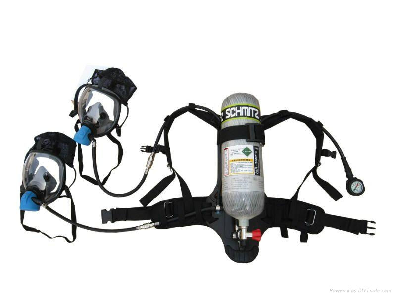 Compressed Air Breathing Apparatus With Double Mask 1