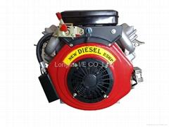 25hp v-twin diesel engine