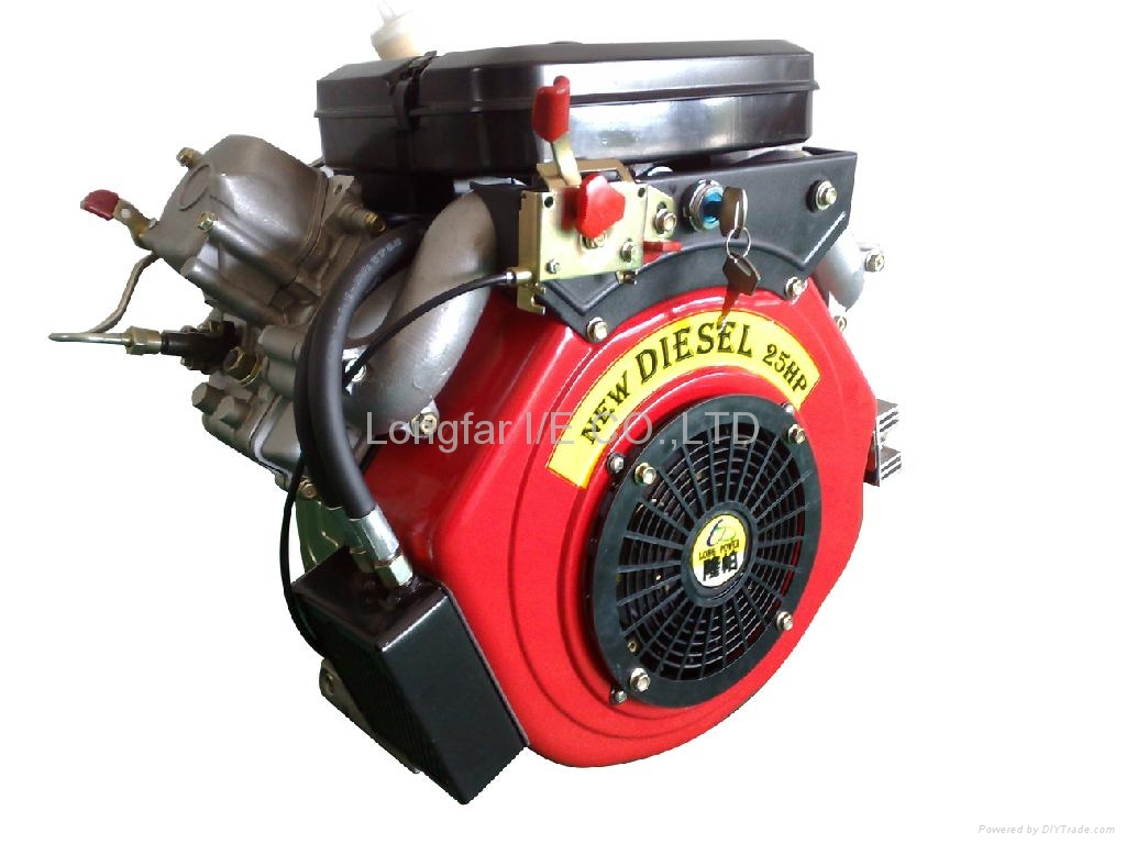 25hp v-twin diesel engine 2