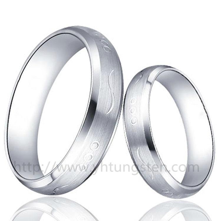 雕花钨钢戒指 1