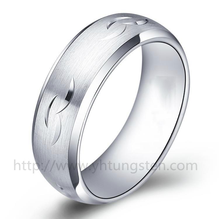 雕花钨钢戒指001 1