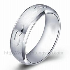 雕花钨钢戒指001