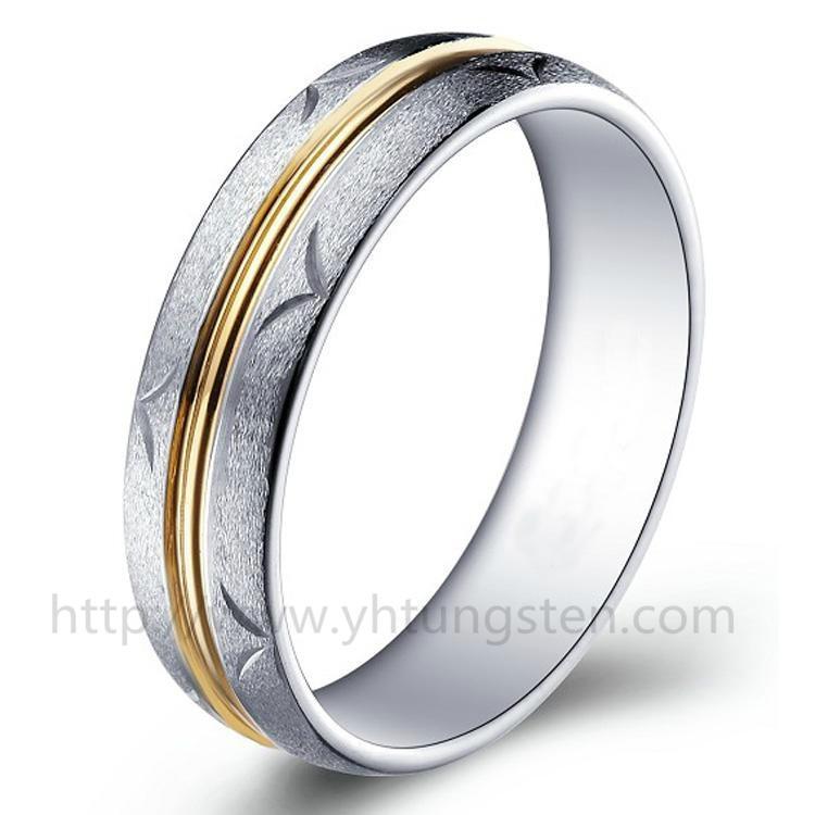 雕花钨钢戒指 本色 1