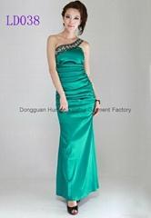 Best Quanlity Beaded Green Ball Gown Prom Dresses LD038