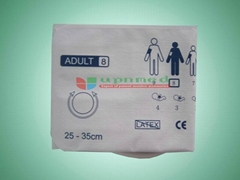 Disposable adult single tube NIBP cuff
