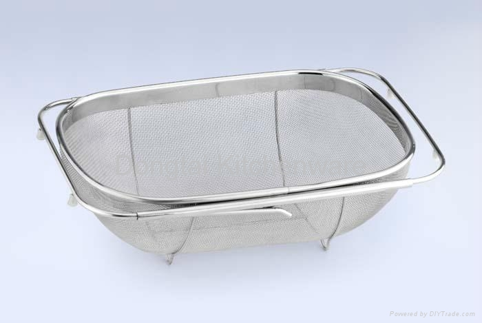 Stainless Steel Sink Colander : Stainless steel sink colander with extendable handle - DT-W1201 ...