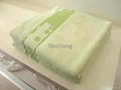 竹纤维缎档提花浴巾