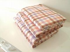 纱+布面色织提花毛巾