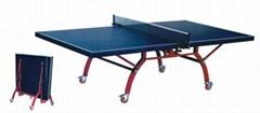 雙折移動式乒乓球台