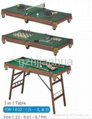 3 in 1 child Game Table