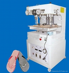 Plastic sole drilling machine
