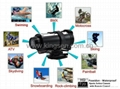 ks007 Special laser light digital camera,sport action camera   4