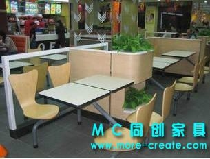 連體快餐桌椅 1