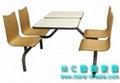 連體快餐桌椅 3