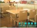 連體快餐桌椅 5