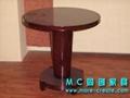 圓形實木咖啡桌