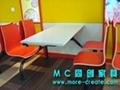城市四人快餐桌椅 3