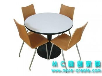 城市四人快餐桌椅 4