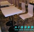 城市四人快餐桌椅 5