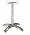 十字底盤電鍍餐桌腳
