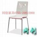 白色曲木快餐椅 1