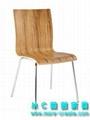 白色曲木快餐椅 2