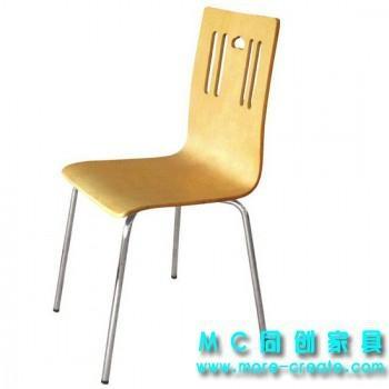 白色曲木快餐椅 3
