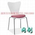 白色曲木快餐椅 4