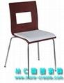 白色曲木快餐椅 5