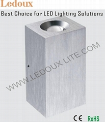 LED Wall Light with Cree XP-E LED 2 x 1W