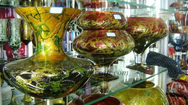 Color vase, glass crafts 1