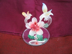 Glass flower, glass crafts