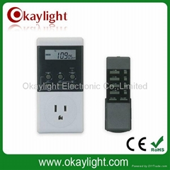 LCD timer switch/remote control switches